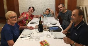 Al ristorante con Giuliano e Maria