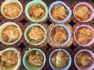 impasto muffin sui pirottini prima della cottura