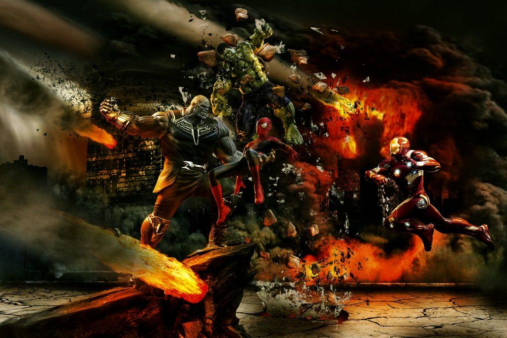 una battaglia degli avengers