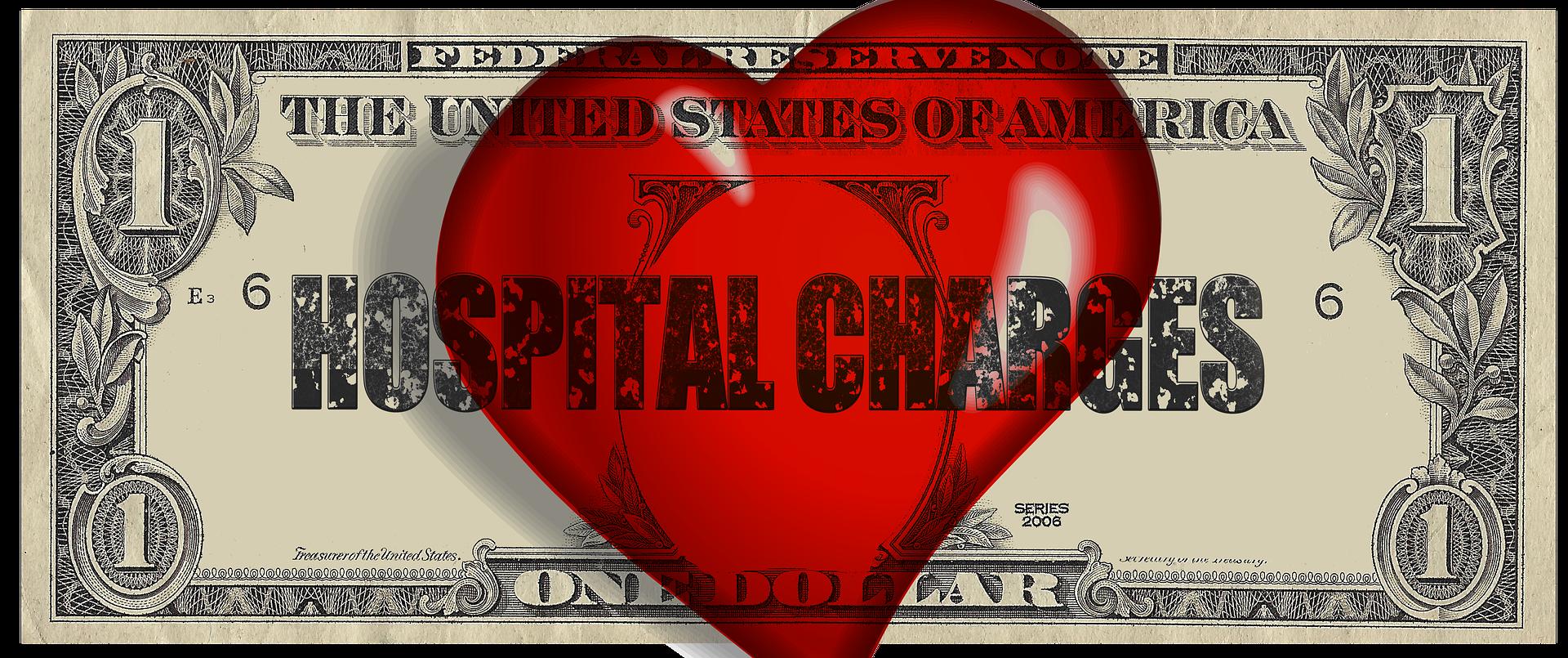 cuore rosso disegnato sopra un dollaro