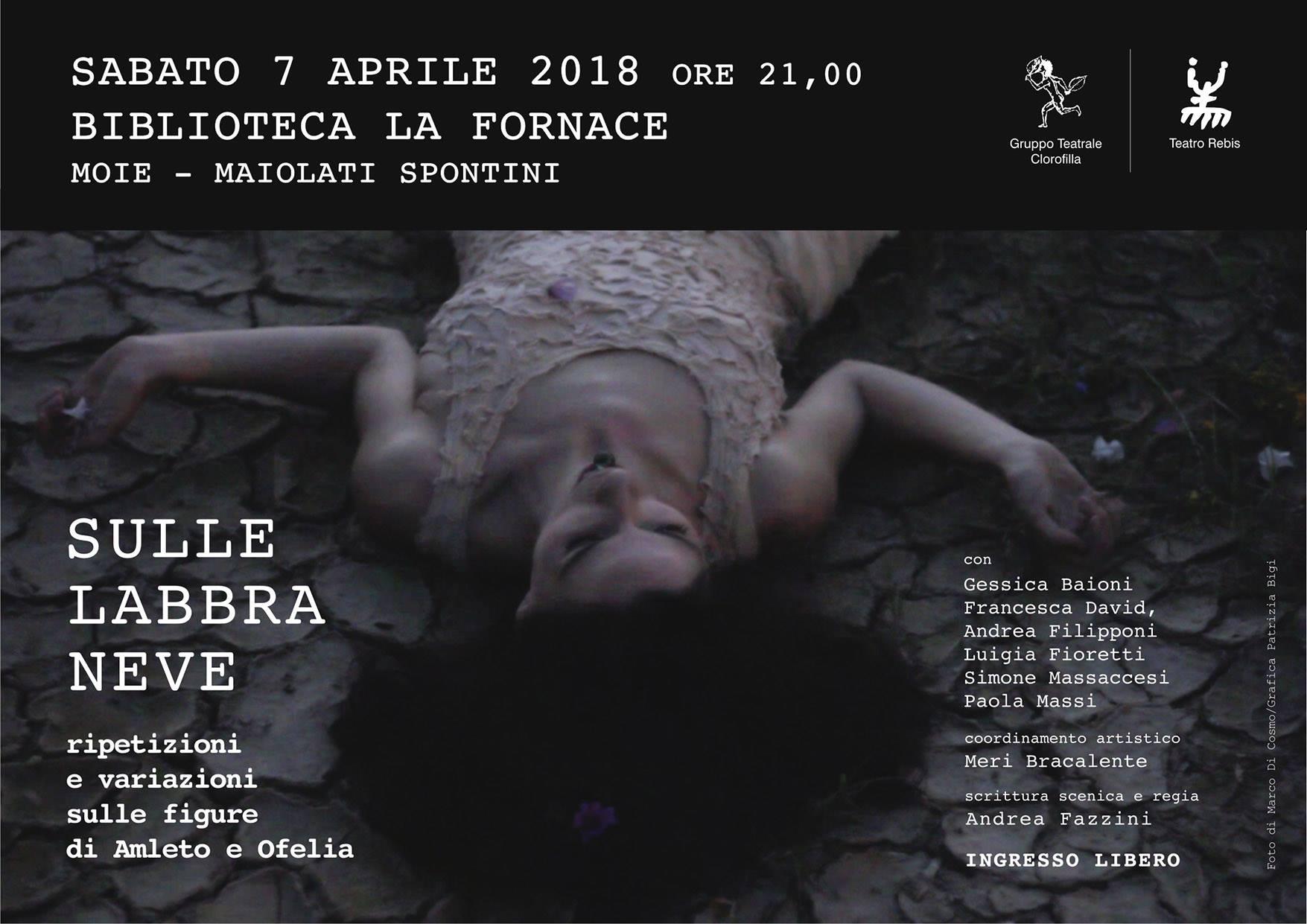 locandina spettacolo teatro rebis protagonista gessica baioni