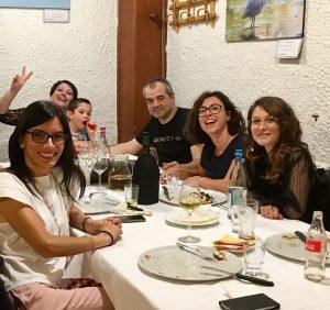 noi e le nostre educatrici a cena al ristorante
