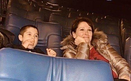 io e giuliano guardando il film al cinema