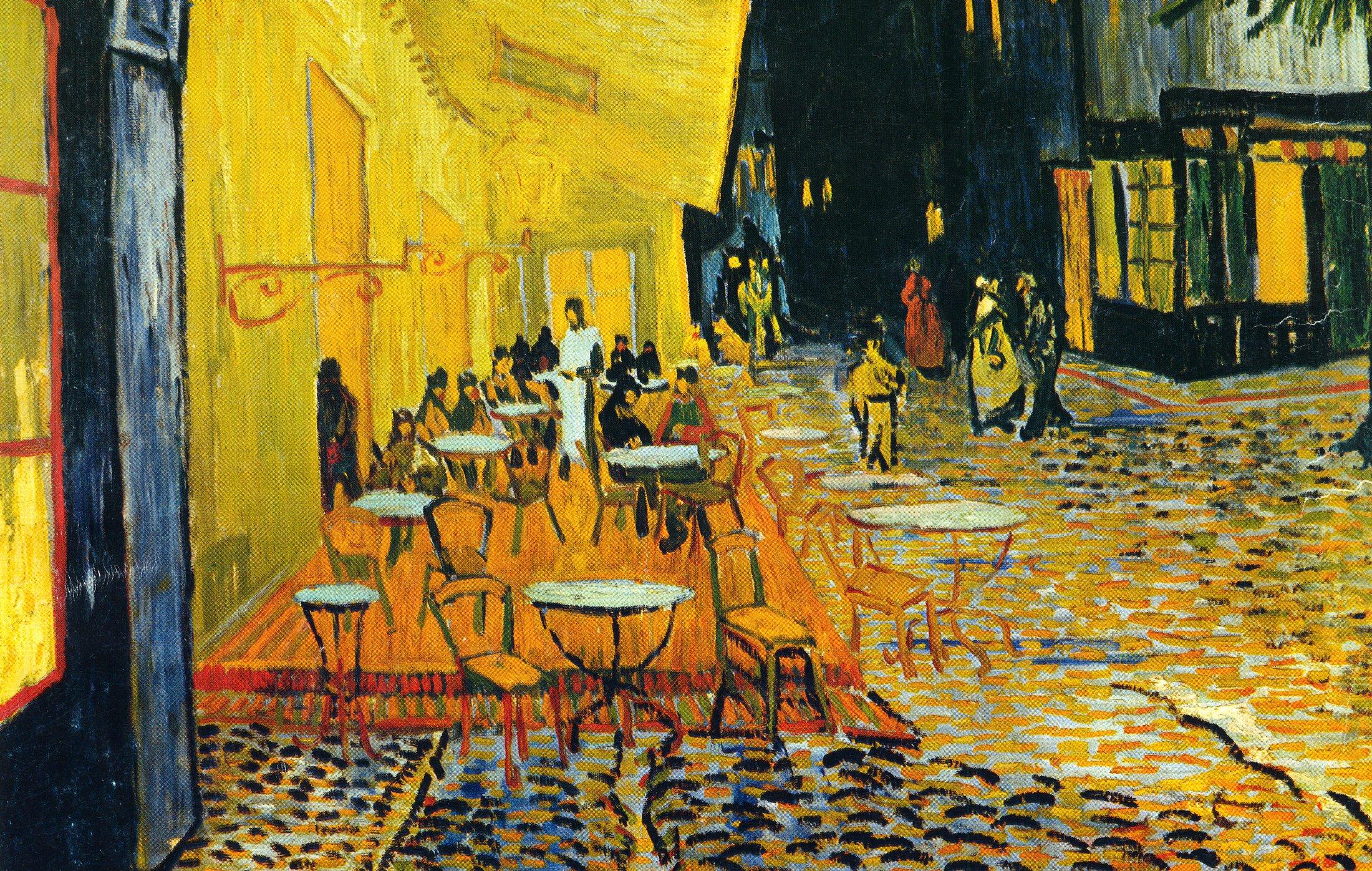 particolare del dipinto di Van Gogh Terrazza del caffè la sera